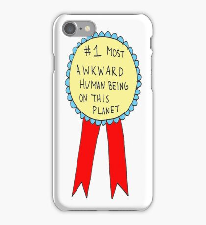 Badge for Awkwardness iPhone Case/Skin