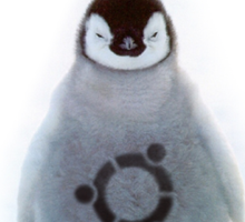 """Ubuntu"" Baby penguin tattoo Sticker"