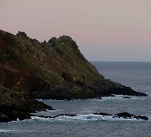 South Devon Gara Rock To Gammon Head Late Autunm Afternoon by richard wolfe