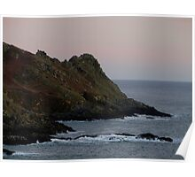 South Devon Gara Rock To Gammon Head Late Autunm Afternoon Poster