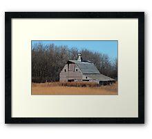 Old Red Barn Framed Print