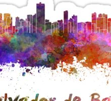 Salvador de Bahia skyline in watercolor Sticker