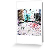 Room with red Doodles Greeting Card