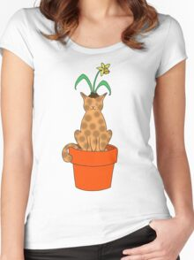 Daffy Cat Women's Fitted Scoop T-Shirt
