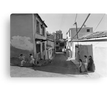 Children Playing on the Street in Izmir Turkey Canvas Print