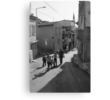 A Group of Children in Kadifekale District in Izmir, Turkey Canvas Print