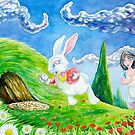 Oh dear! I shall be late! (Alice and the White Rabbit) by Wil Zender