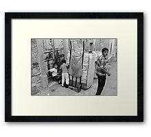 A Street Scene in Konak District in Izmir, Turkey Framed Print