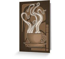 Coffee Nouveau Greeting Card