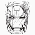 Iron Man battle scars (Black) by axletee