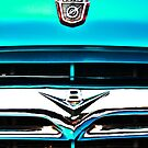 Blue Ford F100 truck V8 emblem by htrdesigns