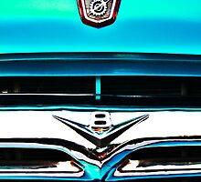 Blue Ford F100 truck V8 emblem by htrdesigns