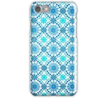 Retro Blue Flowers Wallpaper iPhone iPod Case iPhone Case/Skin