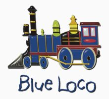 Blue Loco T-shirt design by Dennis Melling