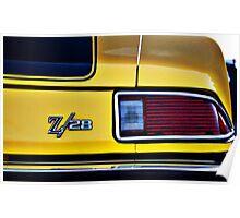 Camaro Z/28 tail light Poster