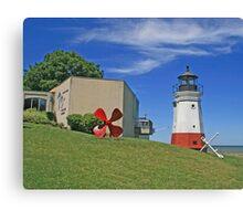 Vermilion Replica Lighthouse Canvas Print