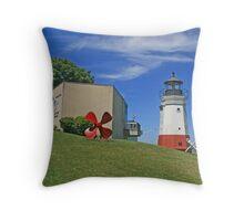 Vermilion Replica Lighthouse Throw Pillow