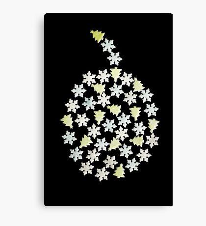 Christmas bulb decoration pattern  Canvas Print