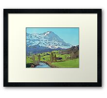 Calm Blue River (Watercolor) Framed Print