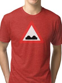 Warning breasts Tri-blend T-Shirt