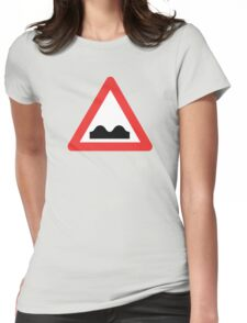 Warning breasts Womens Fitted T-Shirt