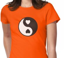 Ying Yang Hearts Womens Fitted T-Shirt