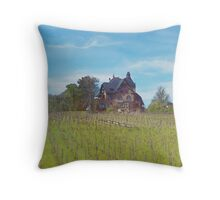 Little Grand Cottage (Watercolor) Throw Pillow