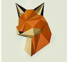 Geometric Fox by Alice Bouchardon