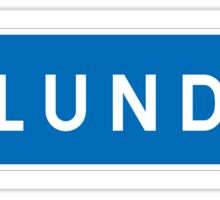 Lund, Road Sign, Sweden Sticker