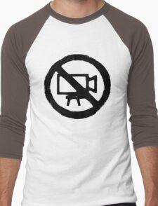 No Camera Men's Baseball ¾ T-Shirt