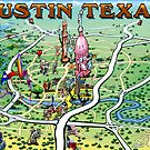 Austin Texas FUN Map by Kevin Middleton