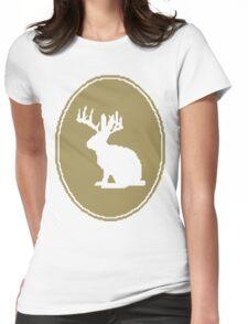 Rabbit Design Womens Fitted T-Shirt
