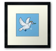 The Hippie Dove Framed Print