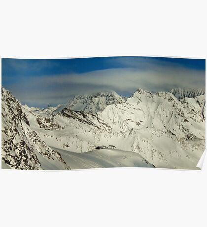 Stubaier Gletscher Austria Poster