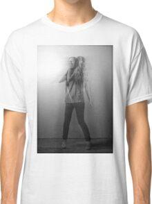 Black & White Motion Blur  Classic T-Shirt