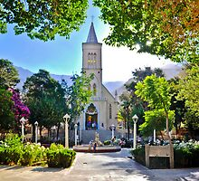 Church of Pisco Elqui, Chile by dombhai