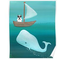 Cat Sailor and the Whale Poster
