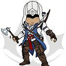 Assassin's Creed 3: Connor Chibi by SushiKitteh's Creations