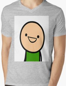 CYANIDE & HAPPINESS FACE Mens V-Neck T-Shirt