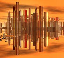 Appolonian Cloud City by Sazzart