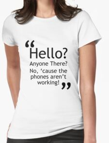 Torchwood - Phones Aren't Working Womens Fitted T-Shirt