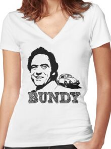 Sketchy Ted! Women's Fitted V-Neck T-Shirt