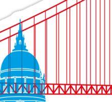 San Francisco skyline pop Sticker