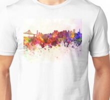San Francisco skyline in watercolor background Unisex T-Shirt