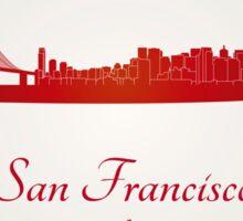 San Francisco skyline in red Sticker