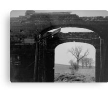 Black And White Photo In A Photo Metal Print