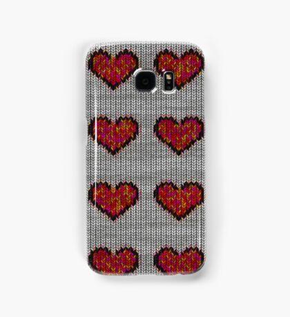 knitted hearts Samsung Galaxy Case/Skin