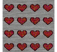 knitted hearts Photographic Print