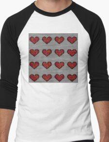 knitted hearts Men's Baseball ¾ T-Shirt