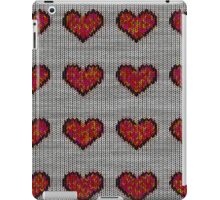 knitted hearts iPad Case/Skin